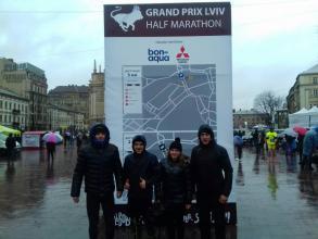 The team of Lviv State University of Life Safety participated in GRAND PRIX LVIV HALF MARATHON