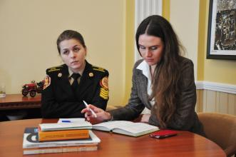 Head of the Kingston University Students Union arrived on a visit to Lviv State University of Life Safety