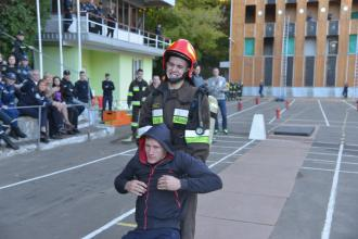 "Тhe competition ""The strongest fireman-rescuer of the University"" took place in the Lviv State University of Life Safety for the first time."