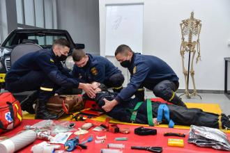 Medical training at Rescue Training Center of Lviv State University of Life Safety