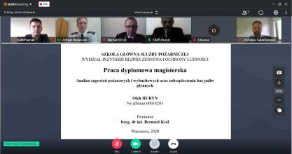 Master's theses defences took place online according to the program of double diplomas