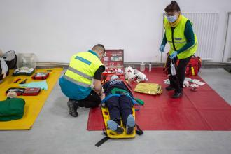 Practical classes in  rescue  training center
