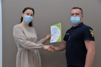 Officers and lecturers of Lviv State University of Life Safety