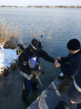 Practical training for divers in Lviv State University of Life Safety
