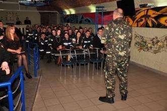 Курсанти та студенти зустрілися з учасником бойових дій на території Афганістану
